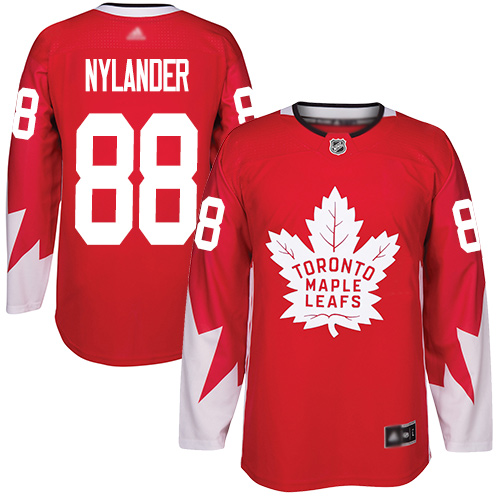 Adidas Maple Leafs #88 William Nylander Red Team Canada Authentic Stitched Youth NHL Jersey