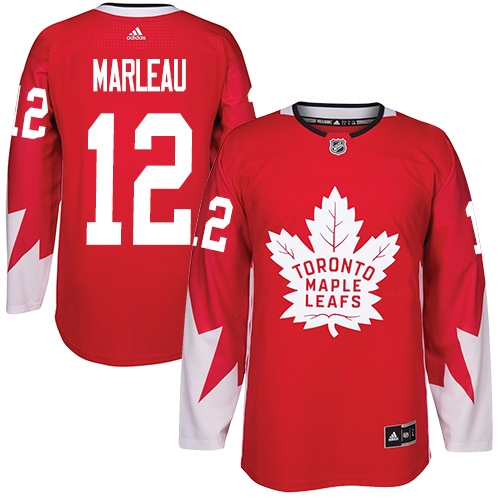 Adidas Maple Leafs #12 Patrick Marleau Red Team Canada Authentic Stitched Youth NHL Jersey
