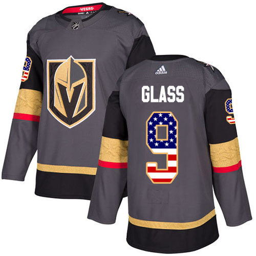 Adidas Golden Knights #9 Cody Glass Grey Home Authentic USA Flag Stitched Youth NHL Jersey