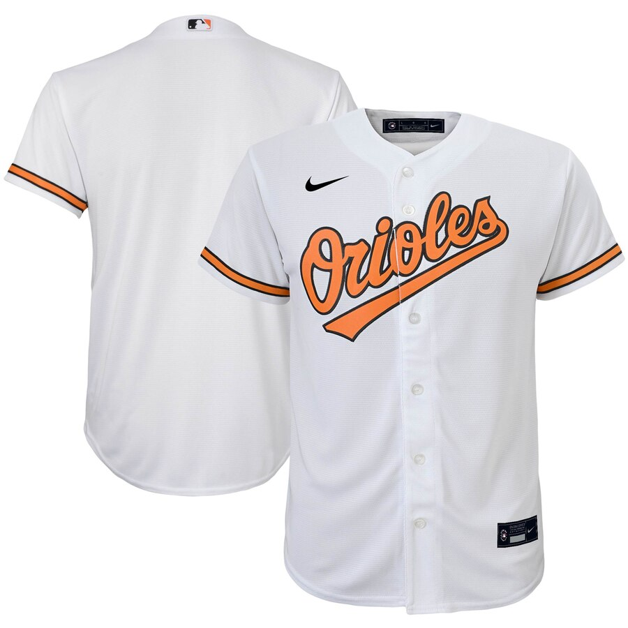 Baltimore Orioles Nike Youth Home 2020 MLB Team Jersey White