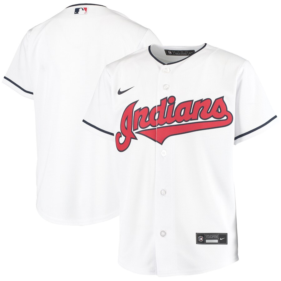 Cleveland Indians Nike Youth Home 2020 MLB Team Jersey White