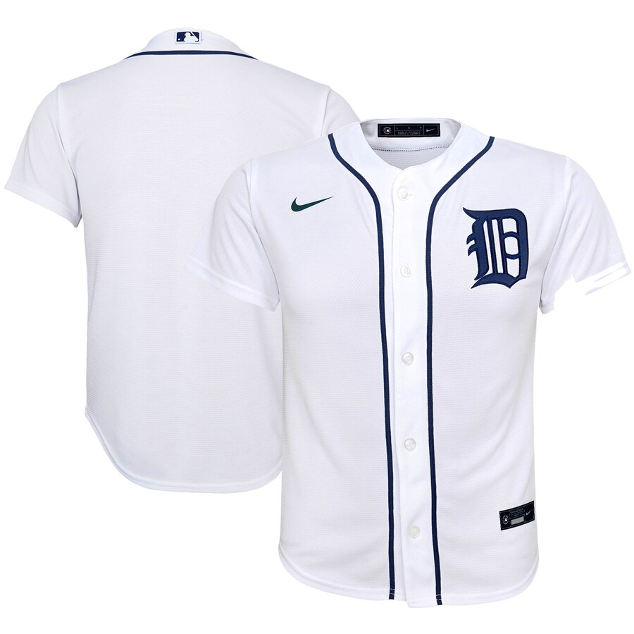 Detroit Tigers Nike Youth Home 2020 MLB Team Jersey White