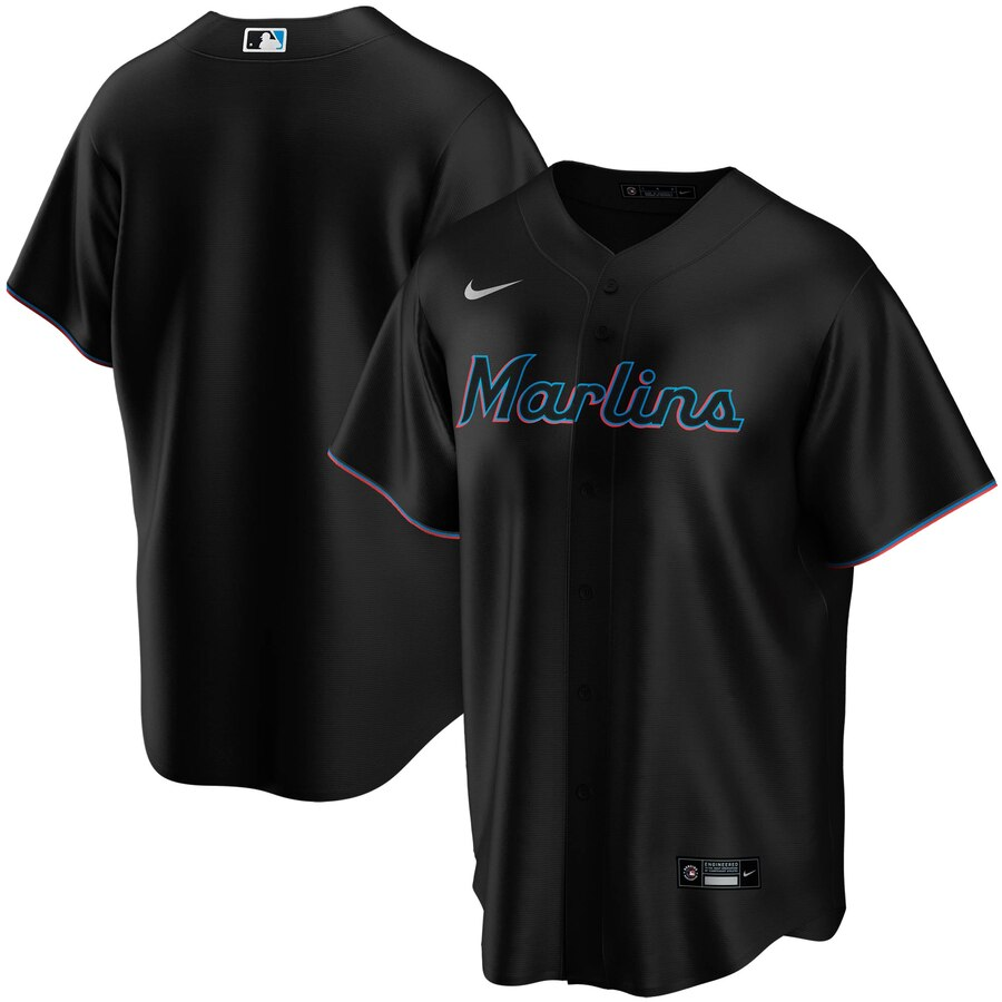 Miami Marlins Nike Youth Alternate 2020 MLB Team Jersey Black