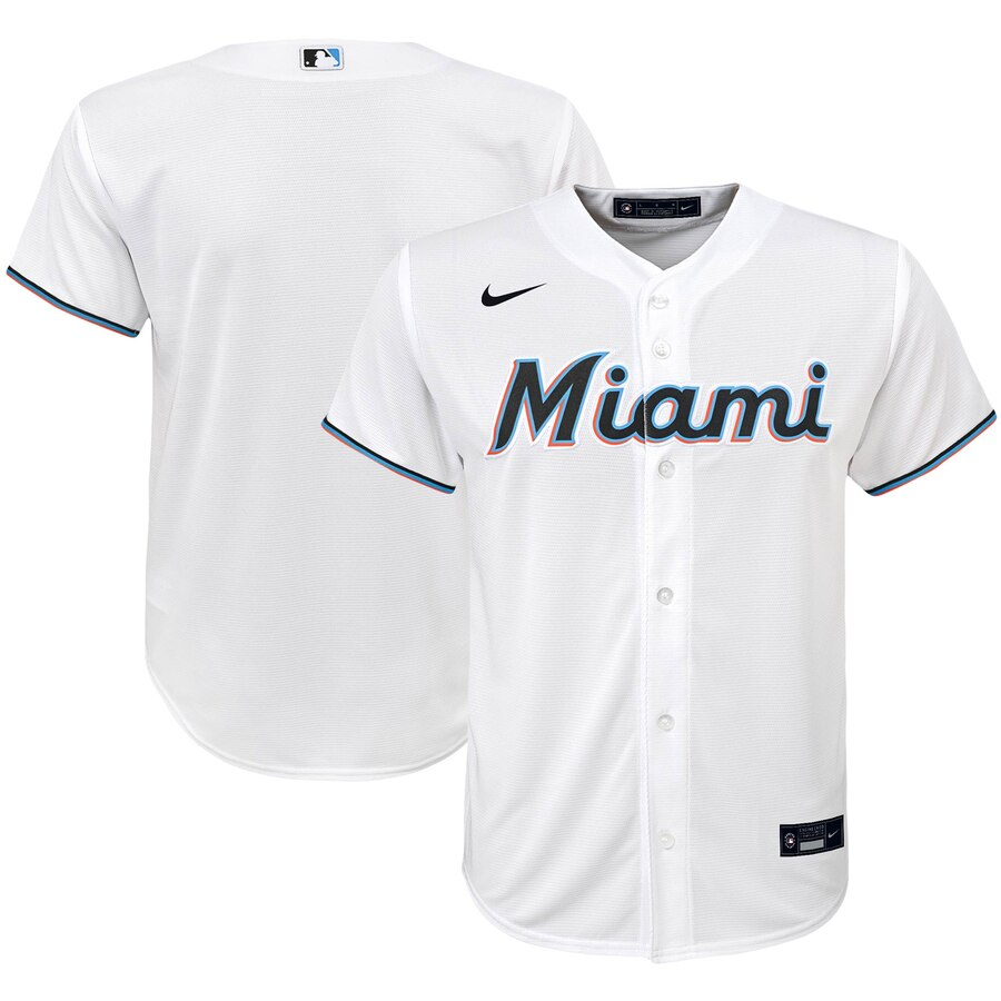 Miami Marlins Nike Youth Home 2020 MLB Team Jersey White