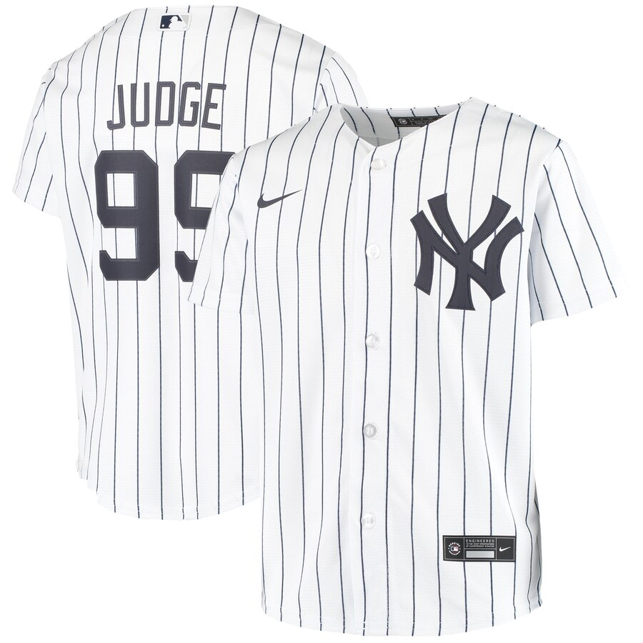 New York Yankees #99 Aaron Judge Nike Youth Home 2020 MLB Player Jersey White