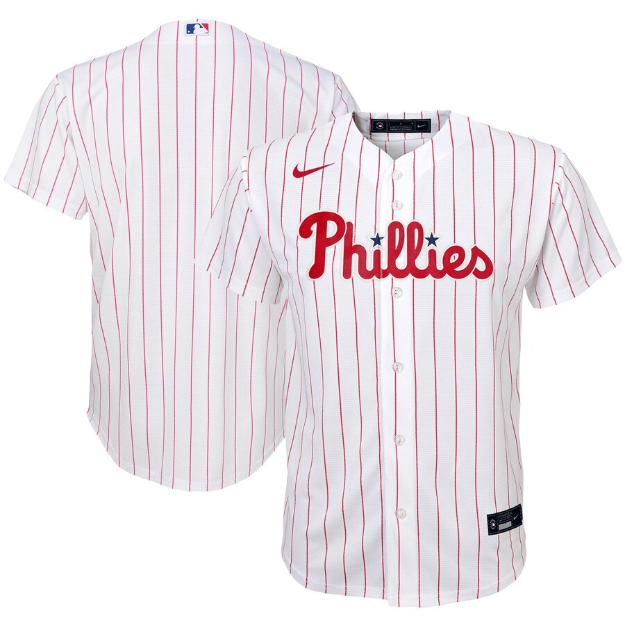 Philadelphia Phillies Nike Youth Home 2020 MLB Team Jersey White