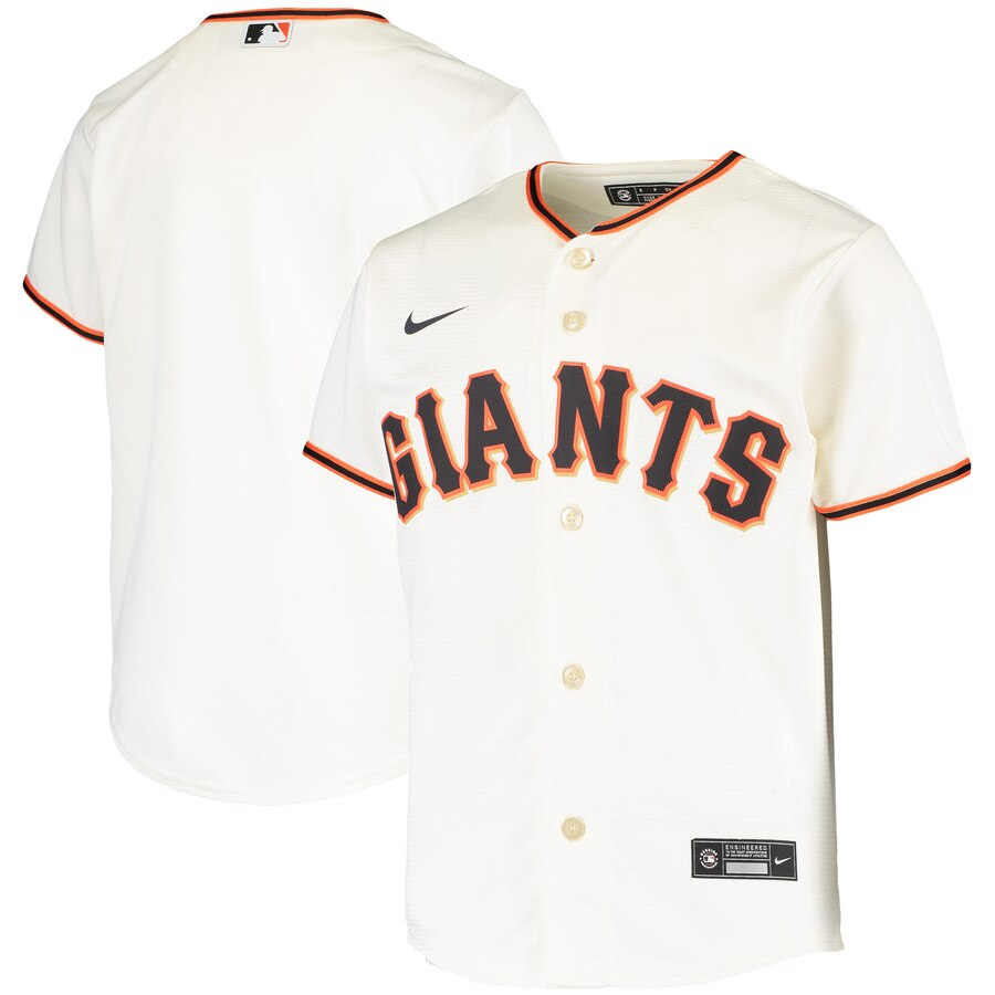 San Francisco Giants Nike Youth Home 2020 MLB Team Jersey Cream
