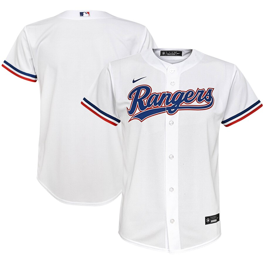 Texas Rangers Nike Youth Home 2020 MLB Team Jersey White
