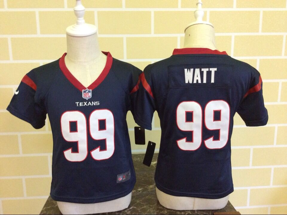 Toddler Nike Houston Texans #99 J.J. Watt Navy Blue Stitched NFL Jersey