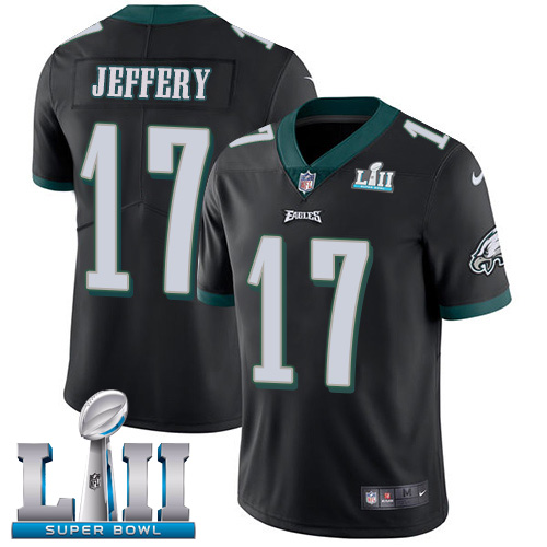 Youth Philadelphia Eagles #17 Alshon Jeffery Black Super Bowl LII Bound Game Stitched NFL Jersey
