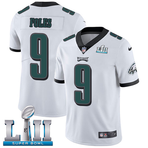 Youth Philadelphia Eagles #9 Nick Foles White Super Bowl LII Bound Game Stitched NFL Jersey