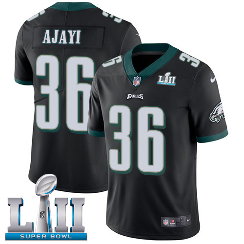Youth Philadelphia Eagles #36 Jay Ajayi BlackSuper Bowl LII Bound Game Stitched NFL Jersey