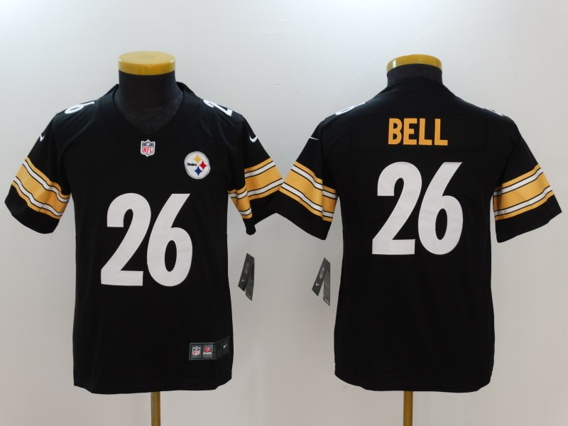 Youth Pittsburgh Steelers #26 Le'Veon Bell Black Vapor Untouchable Limited Jersey