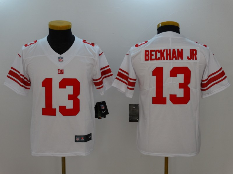 Youth New York Giants #13 Odell Beckham Jr. White Vapor Untouchable Limited Jersey