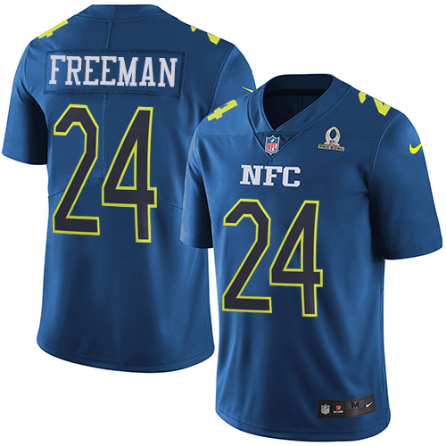 Nike Falcons #24 Devonta Freeman Navy Youth Stitched NFL Limited NFC 2017 Pro Bowl Jersey
