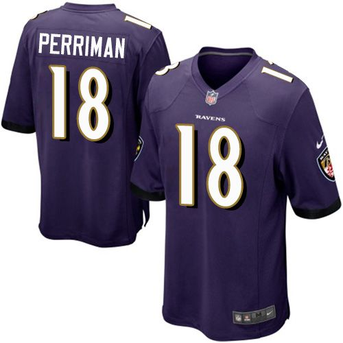 Nike Ravens #18 Breshad Perriman Purple Team Color Youth Stitched NFL New Elite Jersey