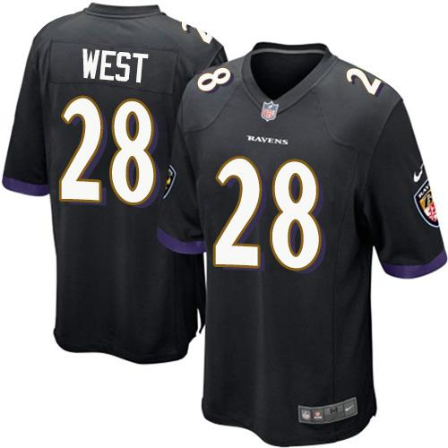 Nike Ravens #28 Terrance West Black Alternate Youth Stitched NFL New Elite Jersey
