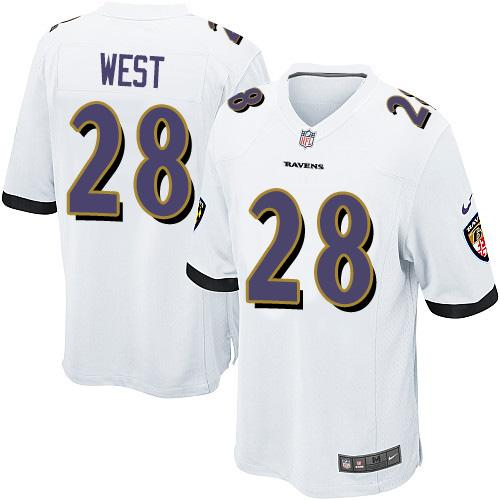 Nike Ravens #28 Terrance West White Youth Stitched NFL New Elite Jersey