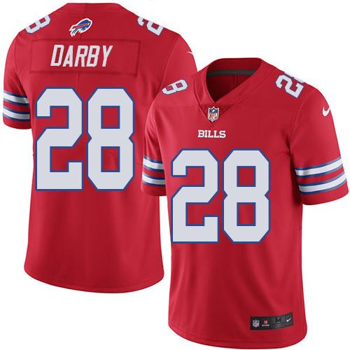 Nike Bills #28 Ronald Darby Red Youth Stitched NFL Limited Rush Jersey