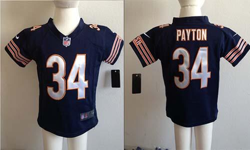 Toddler Nike Bears #34 Walter Payton Navy Blue Team Color Stitched NFL Elite Jersey