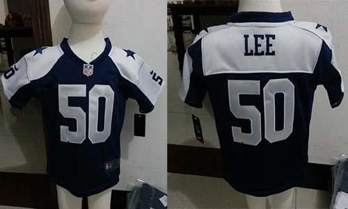 Toddler Nike Cowboys #50 Sean Lee Navy Blue Thanksgiving Stitched NFL Elite Jersey