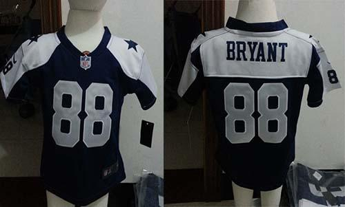 Toddler Nike Cowboys #88 Dez Bryant Navy Blue Thanksgiving Stitched NFL Elite Jersey