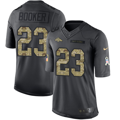 Nike Broncos #23 Devontae Booker Black Youth Stitched NFL Limited 2016 Salute to Service Jersey