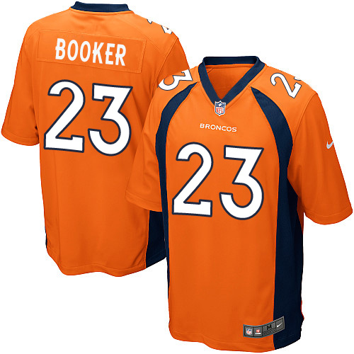 Nike Broncos #23 Devontae Booker Orange Team Color Youth Stitched NFL New Elite Jersey