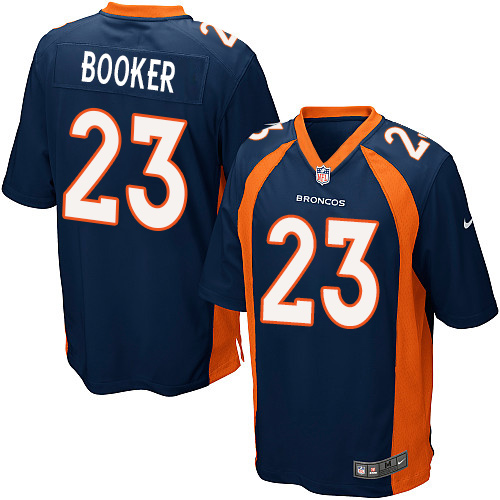 Nike Broncos #23 Devontae Booker Blue Alternate Youth Stitched NFL New Elite Jersey