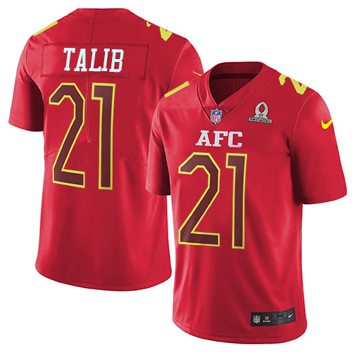 Nike Broncos #21 Aqib Talib Red Youth Stitched NFL Limited AFC 2017 Pro Bowl Jersey