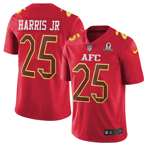 Nike Broncos #25 Chris Harris Jr Red Youth Stitched NFL Limited AFC 2017 Pro Bowl Jersey