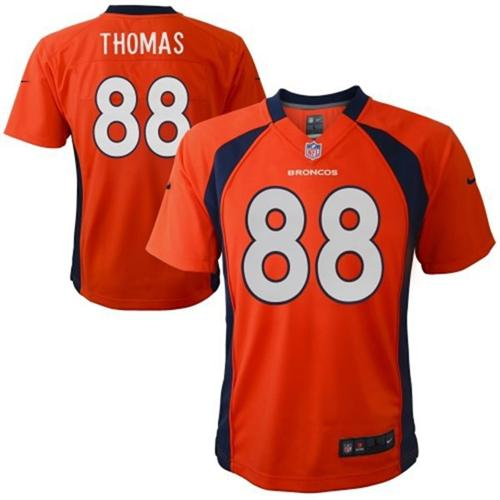 Toddler Nike Broncos #88 Demaryius Thomas Orange Team Color Stitched NFL Elite Jersey