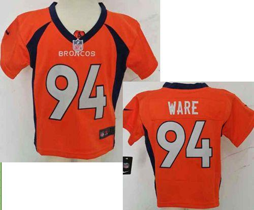 Toddler Nike Broncos #94 DeMarcus Ware Orange Team Color Stitched NFL Elite Jersey