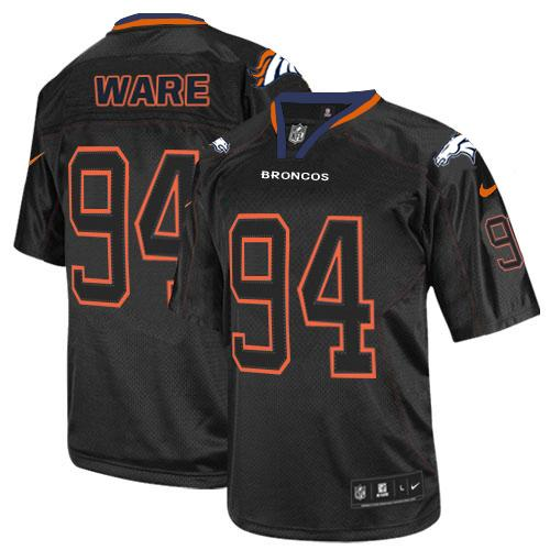 Nike Broncos #94 DeMarcus Ware Lights Out Black Youth Stitched NFL Elite Jersey