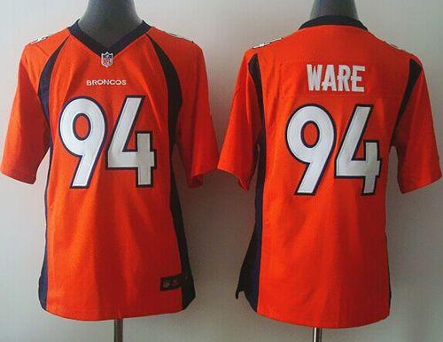 Nike Broncos #94 DeMarcus Ware Orange Team Color Youth Stitched NFL New Elite Jersey