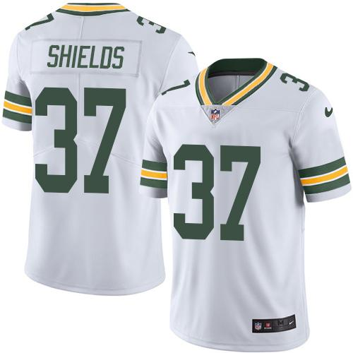 Nike Packers #37 Sam Shields White Youth Stitched NFL Limited Rush Jersey