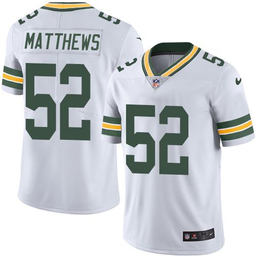 Nike Packers #52 Clay Matthews White Youth Stitched NFL Limited Rush Jersey