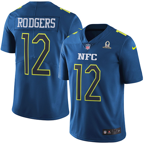 Nike Packers #12 Aaron Rodgers Navy Youth Stitched NFL Limited NFC 2017 Pro Bowl Jersey