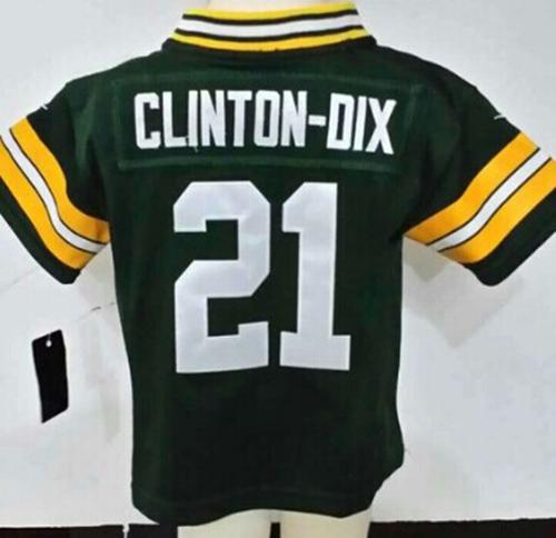 Toddler Nike Packers #21 Ha Ha Clinton-Dix Green Team Color Stitched NFL Elite Jersey