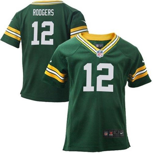 Toddler Nike Packers #12 Aaron Rodgers Green Team Color Stitched NFL Elite Jersey