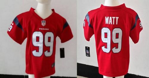 Toddler Nike Texans #99 J.J. Watt Red Alternate Stitched NFL Elite Jersey
