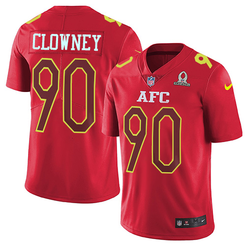Nike Texans #90 Jadeveon Clowney Red Youth Stitched NFL Limited AFC 2017 Pro Bowl Jersey