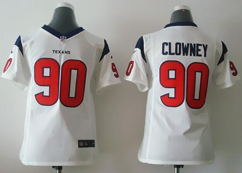 Nike Texans #90 Jadeveon Clowney White Youth Stitched NFL Elite Jersey
