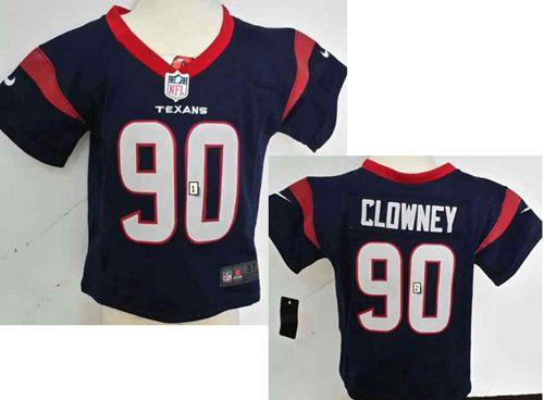 Toddler Nike Texans #90 Jadeveon Clowney Navy Blue Team Color Stitched NFL Elite Jersey