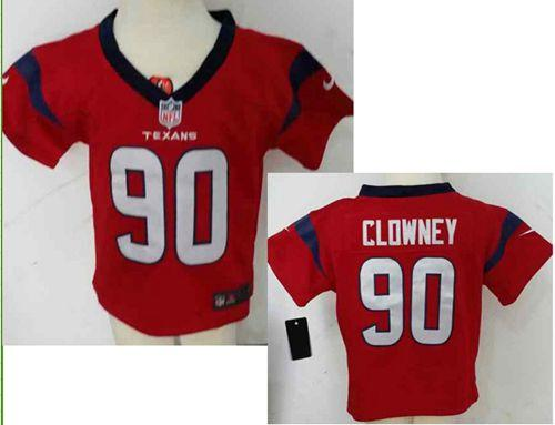 Toddler Nike Texans #90 Jadeveon Clowney Red Alternate Stitched NFL Elite Jersey