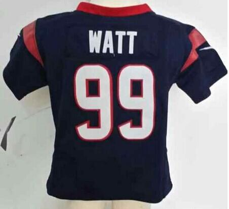 Toddler Nike Texans #99 J.J. Watt Navy Blue Team Color Stitched NFL Elite Jersey