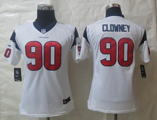 Nike Texans #90 Jadeveon Clowney White Youth Stitched NFL Limited Jersey