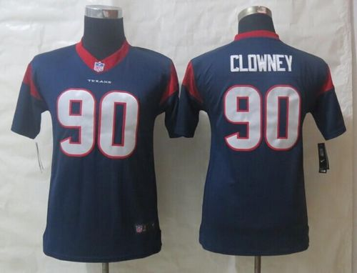 Nike Texans #90 Jadeveon Clowney Navy Blue Team Color Youth Stitched NFL Limited Jersey