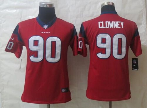 Nike Texans #90 Jadeveon Clowney Red Alternate Youth Stitched NFL Limited Jersey