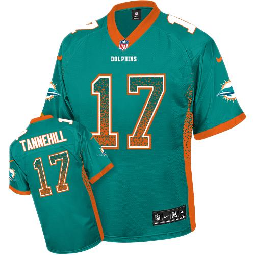 Nike Dolphins #17 Ryan Tannehill Aqua Green Team Color Youth Stitched NFL Elite Drift Fashion Jersey